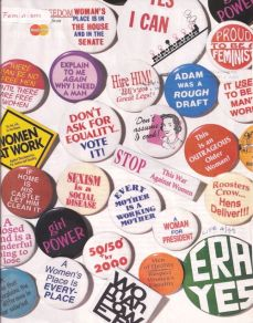 feminist slogans on badges