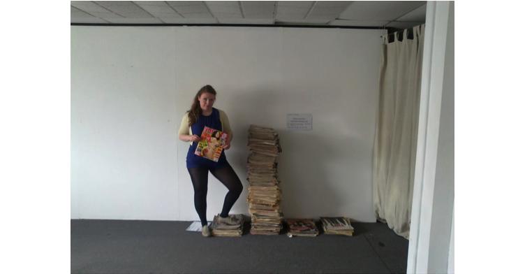 annie Gardiner NME covers art installation LaDIYfest